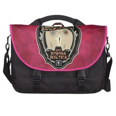 BadGirls gold silhouette young lady Bottom logo Laptop Messenger Bag