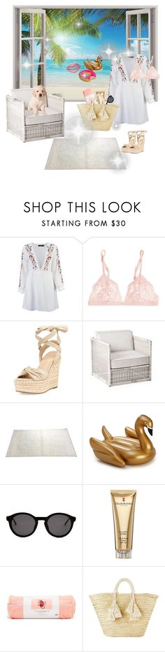 """""""Beach house🌴☀️"""" by sabellacunningham ❤ liked on Polyvore featuring Boohoo, La Perla, Kendall + Kylie, Serena & Lily, WALL, Thierry Lasry, Elizabeth Arden, ban.do and Giselle"""