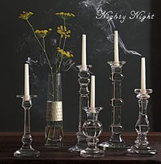 Holiday Collection: Plated Glass Vase and Stafford Candlesticks #serenaandlily