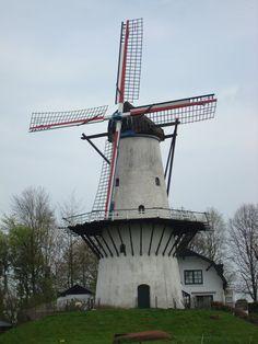 'De Vlinder'. Windmill near the river Linge.