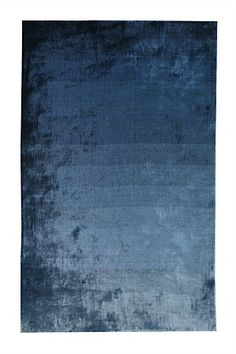 Designers Guild Rug Eberson Cobalt - also a beautiful color in the Living room with all the wood