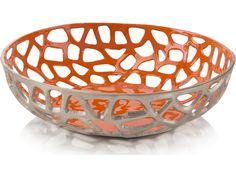 John Richard Orange Enameled Bowl | JRA-9985