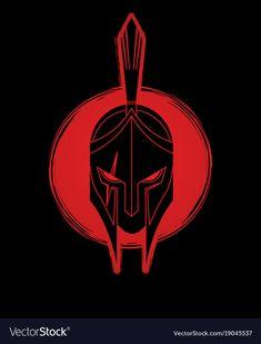 Roman or greek helmet spartan helmet vector image on VectorStock Spartan Helmet Tattoo, Warrior Helmet, Spartan Warrior, Trojan Helmet, Dek Hockey, Gladiator Tattoo, Assassin's Creed Wallpaper, Spartan Logo, Greek Helmet
