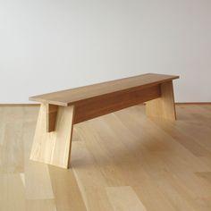 banc, salle à manger, entrée, bois, massif, chêne, Québec, design, Montréal