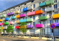 Colorful Balconies by Habub3, via Flickr
