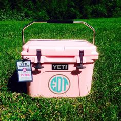 Monogrammed Yeti Coolers!