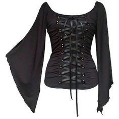 ADELE gothic Corsagen Tunika schwarz Debbys Moppelmode