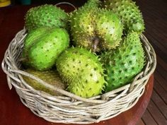 soursop or custard apple - Its flavor has been described as a combination of strawberry and pineapple with sour citrus flavor notes contrasting with an underlying creamy flavor reminiscent of coconut or banana. To eat, cut the fruit open and eat only the white fleshy parts.