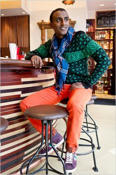 Red Rooster owner and chef, Marcus Samuelsson #style