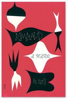 Rimbaud : A season in Hell.  Dust Jacket design Alvin Lustig. - abstract quilt idea