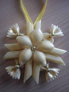 Haz angelitos y muchos adornos navideños con fideos ~ Mimundomanual