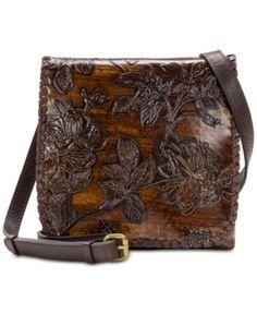 79f520291870 Patricia Nash Bark Leaves Granada Embossed Leather Crossbody