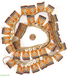 ButtonArtMuseum.com - Xhosa Beaded Love Letter Necklace 33 Letters South African