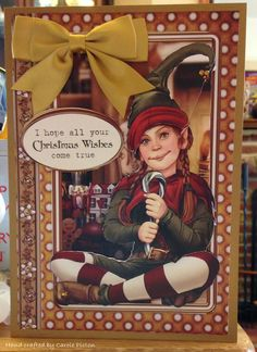 Christmas Card (100) - A5 - makings from Debbi Moore Santa Claus Vol 3 (decoupage)