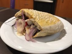 Házi pita Taco Pizza, Bagel, Tacos, Bread, Food, Brot, Essen, Baking, Meals