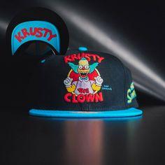 nice Snapback Baseball Cap Hat Simpsons Clown Krusty