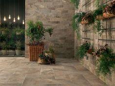 Revestimiento de pared/suelo imitación piedra para exterior GEO SABLE - NOVOCERAM