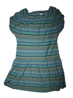 Girl Tea Collection Cinco Senses Ink Green Striped Dress Size 10 #TeaCollection #Everyday