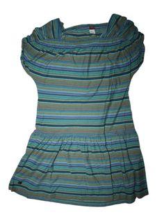 Girl Tea Collection Cinco Senses Ink Green Striped Dress Size 10 #TeaCollection #Everyday