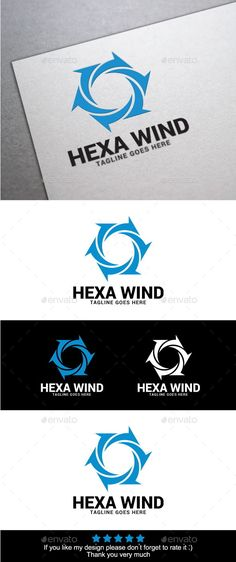 Hexa Wind Logo Template