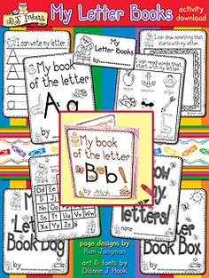 """My Letter Books""  Using with Preschool/Kinder- great for letter recognition."