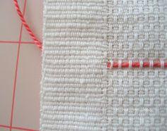 Serendipity Handmade: Swedish Weaving Vintage Towel Tutorial - Part One