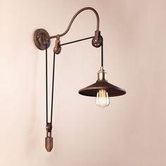 Loft, bar, a steam punk style studio or a retro style house. design with pulley wheels. You can adjust the drop upon your request. Pendant Lamp | Wall Lamp | Desk Lamp | Floorlamp | Other Lightings. | eBay!