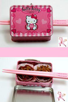 #Kawaii Gluten-Free Chocolate Cherry Pie from NinjaBaker.com  #HelloKitty #Japanese mini #bento
