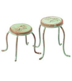 Fairy Garden Dragonfly Set Of 2 Pedestal Tables
