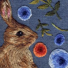 • crafts embroidery nature rabbit craft sewing embroidery hoop karenin •