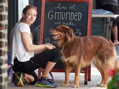 AMANDA SEYFRIED and Finn, her beautiful Australian Shepherd