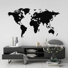 World map outline wall decal room ideas pinterest worldmap world map outline wall decal room ideas pinterest worldmap wall decals and walls gumiabroncs Choice Image
