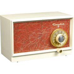 1956 Crosley AM Radio Model P-50 www.rubylane.com/shop/extraordinary-radios