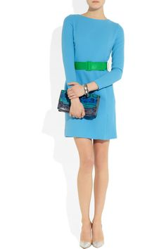 Jonathan Saunders Karla belted wool-crepe dress