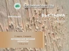 Источник: www.tvernews.ruБотанический сад Тверского госуниверситета приглашает на арт-премьеру - выставку флорельефа Дмитрия Батурина «Мгновения вечной красоты».