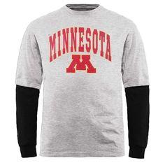 Minnesota Golden Gophers Big & Tall Long Sleeve 2fer T-Shirt – Gray