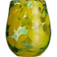 Perfect for special occasions or everyday dinners, this colorful stemless wine glass adds festive appeal to your home bar or tablescape.