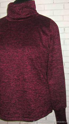 ad76fb3188c Кофты и свитера ручной работы. Сегодня за 990 руб!БОРДО меланж Женская  водолазка из теплого трикотажа. ОДЕЖДА ручной работы