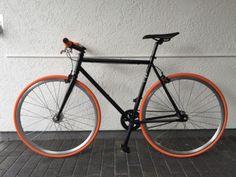 Fixie bike /Fahrrad Orange schwarz, ebay, 199,-€