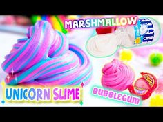 DIY FLUFFY SLIME! How To Make 3 Types! THE BEST Bubblegum, Marshmallow and Unicorn Slime! - YouTube