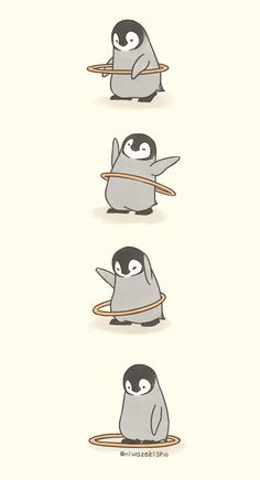 Make Gemes, 10 Cute Illustrations of Little Penguins Perform Daily Tasks Cute Disney Wallpaper, Cute Cartoon Wallpapers, Cartoon Cartoon, Cartoon Ideas, Cute Comics, Funny Comics, Pinguin Illustration, Cute Animal Illustration, Dibujos Cute