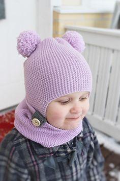 Lempipäiväni -tänään.: Köyhän miehen Gugguu-pipo Baby Hats Knitting, Crochet Baby Hats, Baby Knitting Patterns, Knitted Hats, Knit Crochet, Drops Baby, Kids Hats, Toddler Outfits, Winter Hats