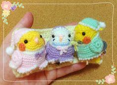 Kawaii Crochet, Crochet Birds, Crochet Animals, Knit Crochet, Knitted Teddy Bear, Amigurumi Tutorial, Crochet Decoration, Handmade Toys, Lana