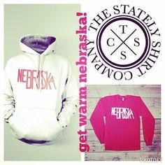 get warm Nebraska! www.thestatelyshirtcompany.com #thestatelyshirtcompany #statelyshirts #nebraska #freezing