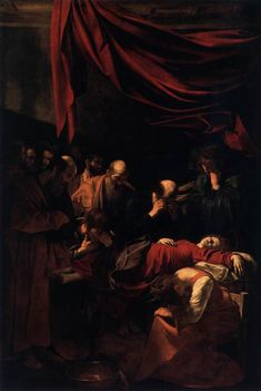 Paintings of Mary: Dormition of the Virgin, Caravaggio