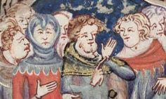 14thC hood Rom of Alexander, rounded dags