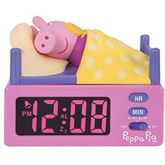 Peppa Pig Alarm Clock Girls Bedroom Decor Pink Theme Song ** Be sure to check out this awesome product. (This is an affiliate link) Princess Adventure, Pig Party, Toddler Rooms, Kids Store, Peppa Pig, Pink Yellow, Little Ones, Playroom, Baby Dolls