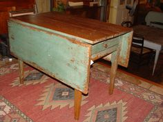 Early drop leaf kitchen                                          or nook table c. 1880s
