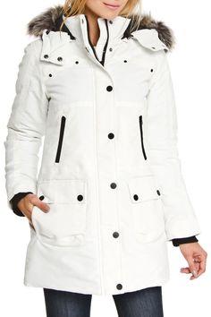 Sofiane Helsinki Coat in White - Beyond the Rack