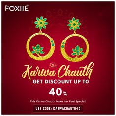 Sparkle this Karwa Chauth with Foxiie Trends and Enjoy Many Exciting Offers ✨ . 😍 Use Code: KARWACHAUTH40 🌐 Shop Now: www.foxiie.com 📲 DM or WhatsApp +91 9358897802 . . #festiveseason #karwachauth #festivevibes #diwali #diwalicelebration #instafestival #jewellery Fashion Jewellery Online Shopping, Jewellery Sale, Diwali Celebration, India Usa, Oxidised Jewellery, Imitation Jewelry, Stylish Jewelry, Feeling Special, Online Shopping Stores